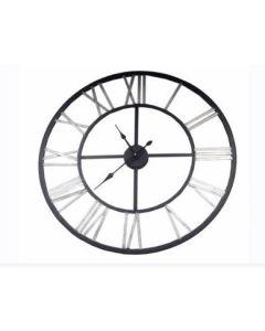 Ρολόι Τοίχου Vintage Ø76 εκ. Μέταλλο Μαύρο -Ασημί  Etoile Iron UK493