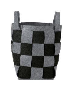 Σάκος Απλύτων-Καλάθι Αποθήκευσης 30*30*46εκ.Sealskin Weave Black 361982019