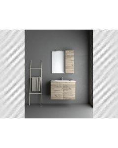 Σετ Έπιπλο Μπάνιου Βάση 80 εκ. Βάση -Νιπτήρας-Καθρέπτης -Φωτιστικό Savvopoulos Economy Emily II