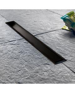 Σιφώνι Δαπέδου Ντουσιέρας Μαύρο Ματ Γραμμικό -Κανάλι Ντους 30 εκ. Wirquin Venisio SlimBlack Matt VS300-401