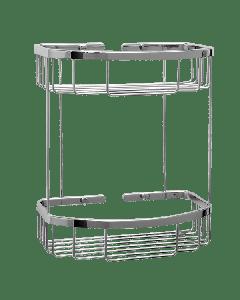 Σπογγοθήκη Παραλληλόγραμμη Δύο δύο θέσεων Χρωμέ Verdi R-10 Baskets 5021422