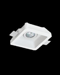 Σποτ Οροφής  Χωνευτό Τετράγωνο Adjustable 15,5*15,5 εκ. Γύψινο Λευκό Viokef Jack 4081100