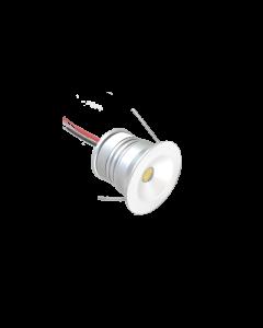 Σποτ Χωνευτό 1w Led 100lm 3000K Warm White 12V DC, IP65, Λευκό 3,5*2,55cm Σετ  9 τμχ. Viokef Royal 4223200