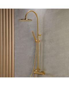 Στήλη Ντους 2 Εξόδων Ρυθμιζόμενου ύψους 94-122 εκ. Brushed Gold Armando Vicario Industrial 512065-201
