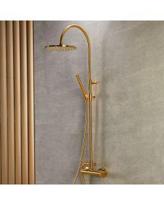 Στήλη Ντους 2 Εξόδων Ρυθμιζόμενου ύψους 94-122 εκ. Brushed Gold Armando Vicario Slim 500065-201