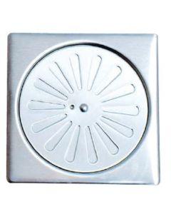 Σχαράκι Δαπέδου Ασφαλείας 10*10 εκ. Περιστρεφόμενο Inox Χρωμέ  Axon 23069