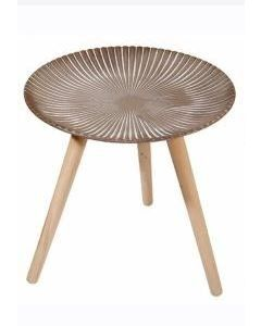 """Τραπέζι  Βοηθητικό Στρογγυλό  Ø49* Ύψος 44 εκ.  Τρίποδο Σχέδιο """" Ρίγες"""" Etoile UK101"""
