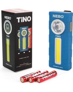Φακός Εργασίας Μπαταρίας Led 300lm με Κλιπ Τσέπης & Μαγνητική Βάση NEBO Tino Blue  6809