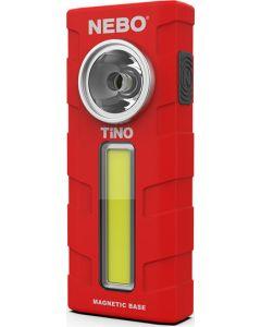 Φακός Εργασίας Μπαταρίας Led 300lm με Κλιπ Τσέπης & Μαγνητική Βάση NEBO Tino Red  6809