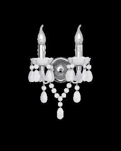 Φωτιστικό Απλίκα Δίφωτη Λευκό Ακρυλικό Trio Luster R25072001