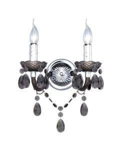 Φωτιστικό Απλίκα Δίφωτη Μαύρο Ακρυλικό Trio Luster R25072002