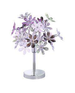 Φωτιστικό Επιτραπέζιο Λαμπατέρ  Ø33 εκ. Ακρυλικό Πολύχρωμο Trio Flower R50011017