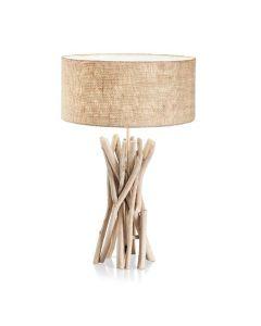 Φωτιστικό Επιτραπέζιο Λαμπατέρ Κορμός Μεταλλικός/ Φυσικό Ξύλο με διακοσμητικούς βραχίονες  Ideal Lux Driftwood TL1 129570