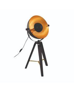 Φωτιστικό Επιτραπέζιο Τρίποδο 73,5 εκ.  Μαύρο-Χρυσό-Ορείχαλκος Eglo Covaleda 49617