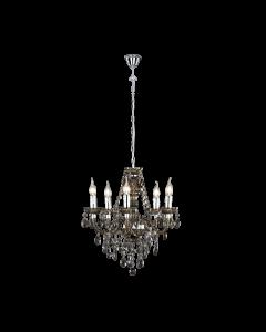 Φωτιστικό Πολυέλαιος Πεντάφωτος Ø52 εκ. Μαύρο Ακρυλικό Trio Luster R1107-02