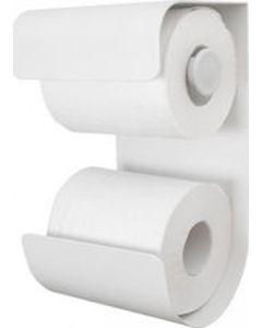 Χαρτοθήκη Μπάνιου Επίτοιχη Μέταλλο Λευκό Sealskin Brix 362471810