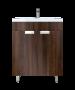 Έπιπλο Μπάνιου 65 εκ.με Νιπτήρα & ποδαράκια Χρώμα Noce Lirico Sanitec Lido 65