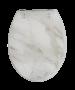 """Κάλυμμα Λεκάνης W.C Διακοσμητικό Μαρμαριζέ """"Marble """"  40-46*36cm Οπές 11-20 εκ. Μεταλλικά στηρίγματα Elvit Marble 0281"""