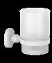Ποτηροθήκη Επίτοιχη Λευκό Ματ Verdi Omicron White Matt 3020501