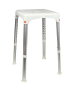 Σκαμπώ Λουτρού με Τηλεσκοπικά Πόδια Σκελετός Αλουμινίου Κάθισμα Πλαστικό Elvit 0271