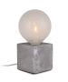 Φωτιστικό Επιτραπέζιο Βάση Μπετού Γκρι 10*10*10 cm 1*Ε27 με Φις, Καλώδιο 1,8 m & Διακοπτάκι  Enjoy Concrete Cube EL327107