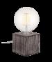 Φωτιστικό Επιτραπέζιο Βάση Μπετού Μαύρο Αντικέ με Μπεζ Γραμμές  10*10*10 cm 1*Ε27 με Φις, Καλώδιο 1,8 m & Διακοπτάκι Enjoy Concrete Cube EL327108