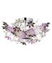 Φωτιστικό Οροφής  Ø51 εκ. Τετράφωτο Μέταλλο Χρωμέ / Ακρυλικό Πολύχρωμο Trio Flower R60014017