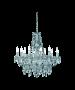 Φωτιστικό Πολυέλαιος Δεκάφωτος Ø76 εκ. Διάφανο Ακρυλικό Trio Luster R1170-00